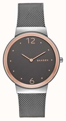 Skagen Womans Stainless Steel Mesh Strap Grey Dial SKW2382