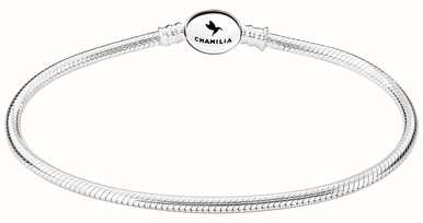 Chamilia Sterling Silver Oval Snap Bracelet 8.3 Inches 1010-0166