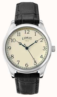 Limit Mens Black Leather Strap Cream Dial 5631.01