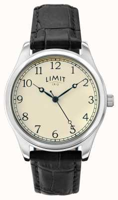 Limit Womens Black Leather Strap Cream Dial 6179.01