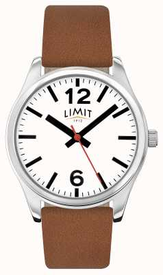 Limit Mens Brown Leather Strap White Dial 5628.01