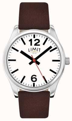 Limit Mens Brown Strap White Dial 5629.01