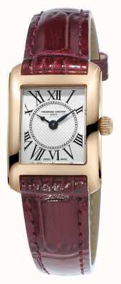 Frederique Constant Women's Carree Brown Leather Strap Silver Dial FC-200MC14