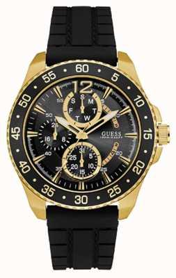 Guess Mens Jet Sport Black Chronograph Dial Black Strap W0798G3
