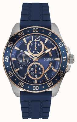 Guess Mens Jet Sport Blue Chronograph Dial Blue Strap W0798G2