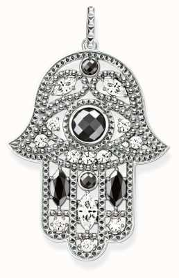 Thomas Sabo Womans Sterling Silver Hamsa Style Pendant With Zirconia PE732-645-24