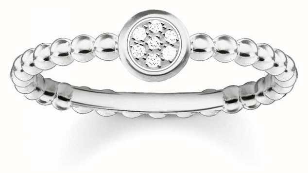 Thomas Sabo Sterling Silver Sparkling Circles Ring 52 D_TR0004-725-14-52