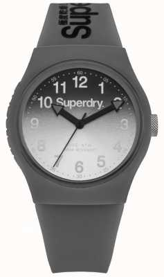 Superdry Unisex Urban Laser Grey And Black Leather Strap SYG198EE