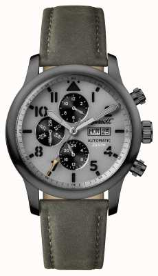 Ingersoll Mens Discovery The Hatton Grey Leather Strap Grey Dial I01401