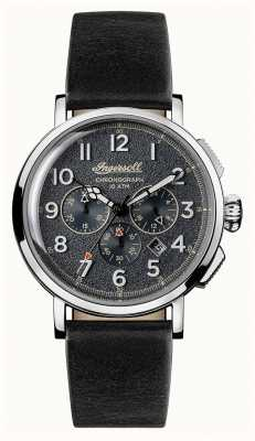 Ingersoll Mens Discovery The St Johns Black Leather Strap Grey Dial I01701