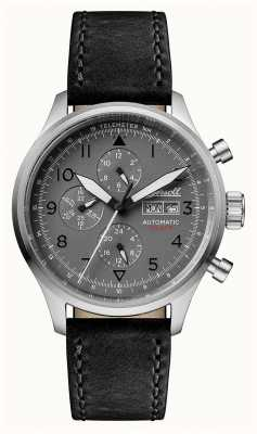 Ingersoll Mens Discovery The Bateman Black Leather Strap I01903