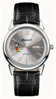 Disney By Ingersoll Mens Union The New Haven Disney Black Leather Strap ID00201