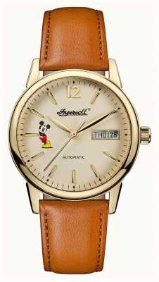 Disney By Ingersoll Womens Union The New Haven Disney Brown Leather Strap ID01101