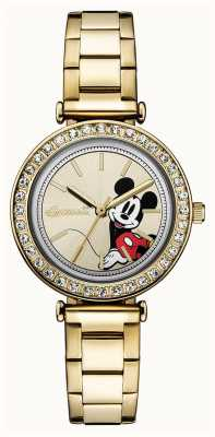 Disney By Ingersoll Womens Union The Disney Gold Tone Stainless Steel ID00304