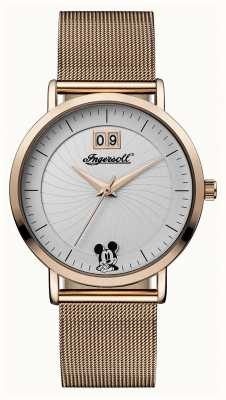 Disney By Ingersoll Womens Union The Disney Mesh Strap Silver Dial ID00504