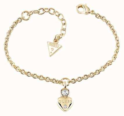 Guess Womans Guessy Little Heart Charm Bracelet Gold UBB82011-L
