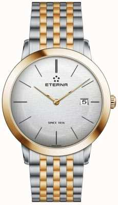 Eterna Mens Eternity Quartz Brushed Silver Dial Two Tone Strap 2710.53.10.1737