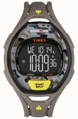 Timex Mens Indiglo Iron Man Sleek Alarm Chronograph Brown Camo TW5M01300