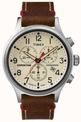 Timex Mens Scout Chronograph Cream Dial TW4B04300