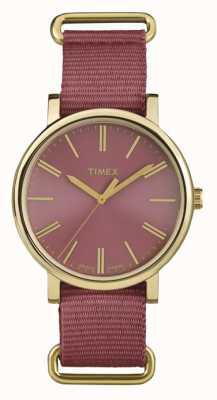 Timex Unisex Rose Dial Rose Fabric Strap TW2P78200