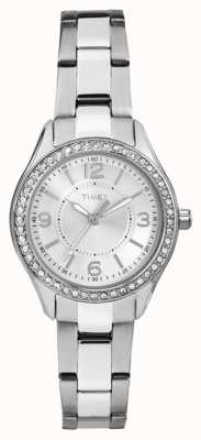 Timex Womans Miami Mini SIlver Stainless Steel Strap Silver Dial TW2P79800