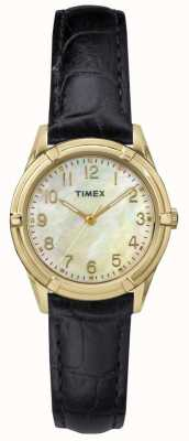 Timex Womans Easton Avenue Pearl Dial Leather Strap TW2P76200