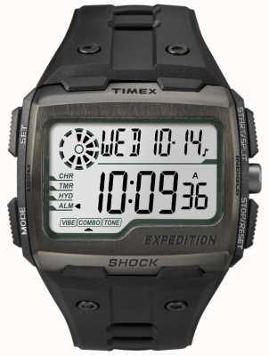 Timex Men's Grid Shock Alarm Chronograph All Black TW4B02500