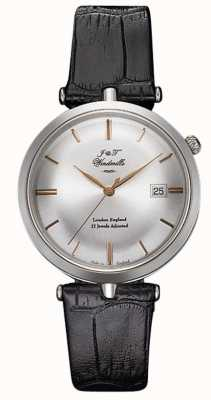 J&T Windmills Mens Threadneedle Mechanical Watch Sterling Silver Rose Gold WGS10001/06