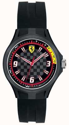 Scuderia Ferrari Mens Pit Crew Black Rubber Strap Black Dial 0840006