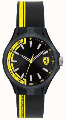 Scuderia Ferrari Mens Pit Crew Black Rubber Strap Black Dial Black Case 0840012