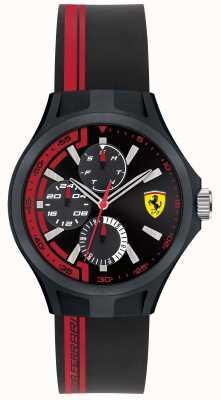 Scuderia Ferrari Mens Pit Crew Black Rubber Black Dial 0840013