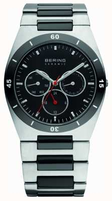 Bering Mens Ceramic Stainless Steel Bracelet Black Dial 32341-742