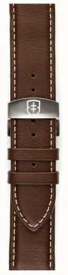 Elliot Brown Mens 22mm Chocolate Oiled Leather Deployant Strap Only STR-L03