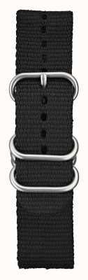 Elliot Brown Men's 22mm Black Ballistic Nylon Brushed Hardware STR-N03