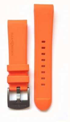 Elliot Brown Mens 22mm Orange Rubber steel Tongue Buckle Strap Only STR-R05