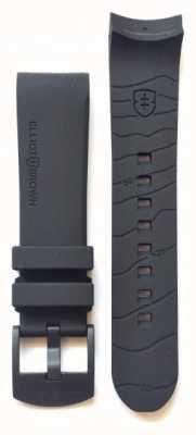 Elliot Brown Mens 22mm Black Rubber Gunmetal Tongue Buckle Strap Only STR-R06