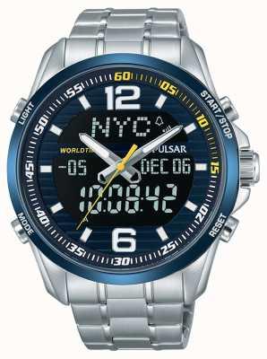 Pulsar Mens Accelerator WRC Dual Time World Time Alarm Chronograph PZ4003X1