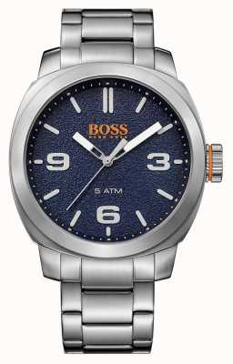 Hugo Boss Orange Mens Cape Town Stainless Steel Bracelet Blue Dial 1513419