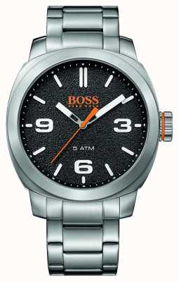 Hugo Boss Orange Mens Cape Town Stainless Steel Bracelet Black Dial 1513454