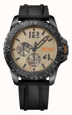 Hugo Boss Orange Mens Reykjavik Black Rubber Strap Cream Dial 1513422