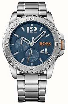 Hugo Boss Orange Mens Reykjavik Stainless Steel Bracelet Blue Dial 1513424