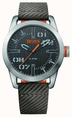 Hugo Boss Orange Mens Oslo Brown Leather Strap Black Dial 1513417