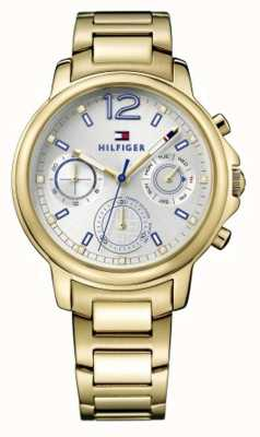 Tommy Hilfiger Womens Claudia Gold Tone Stainless Steel White Dial 1781742