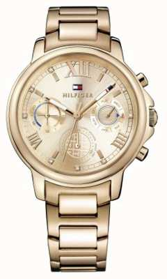 Tommy Hilfiger Womens Claudia Rose Gold Tone Stainless Steel Rose Gold Dial 1781743