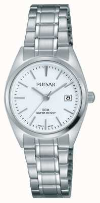 Pulsar Womens Stainless Steel Bracelet White Dial PH7439X1