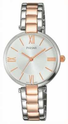Pulsar Womens Two Tone Stainless Steel Silver Dial PH8242X1