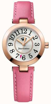 Juicy Couture Womens Cali Pink Leather Strap Silver Dial 1901463