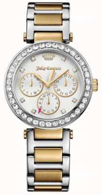 Juicy Couture Womens Cali Two Tone Stainless Steel Silver Dial 1901506