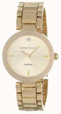 Anne Klein Womens Gold Tone Bracelet Gold Dial AK/N1362CHGB