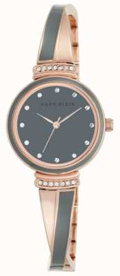 Anne Klein Womens Rose Gold Tone Bracelet Grey Dial AK/N2216GYRG
